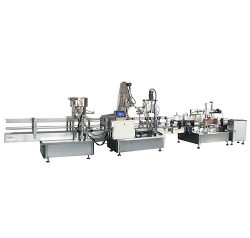 Square barrel stoppering capping line
